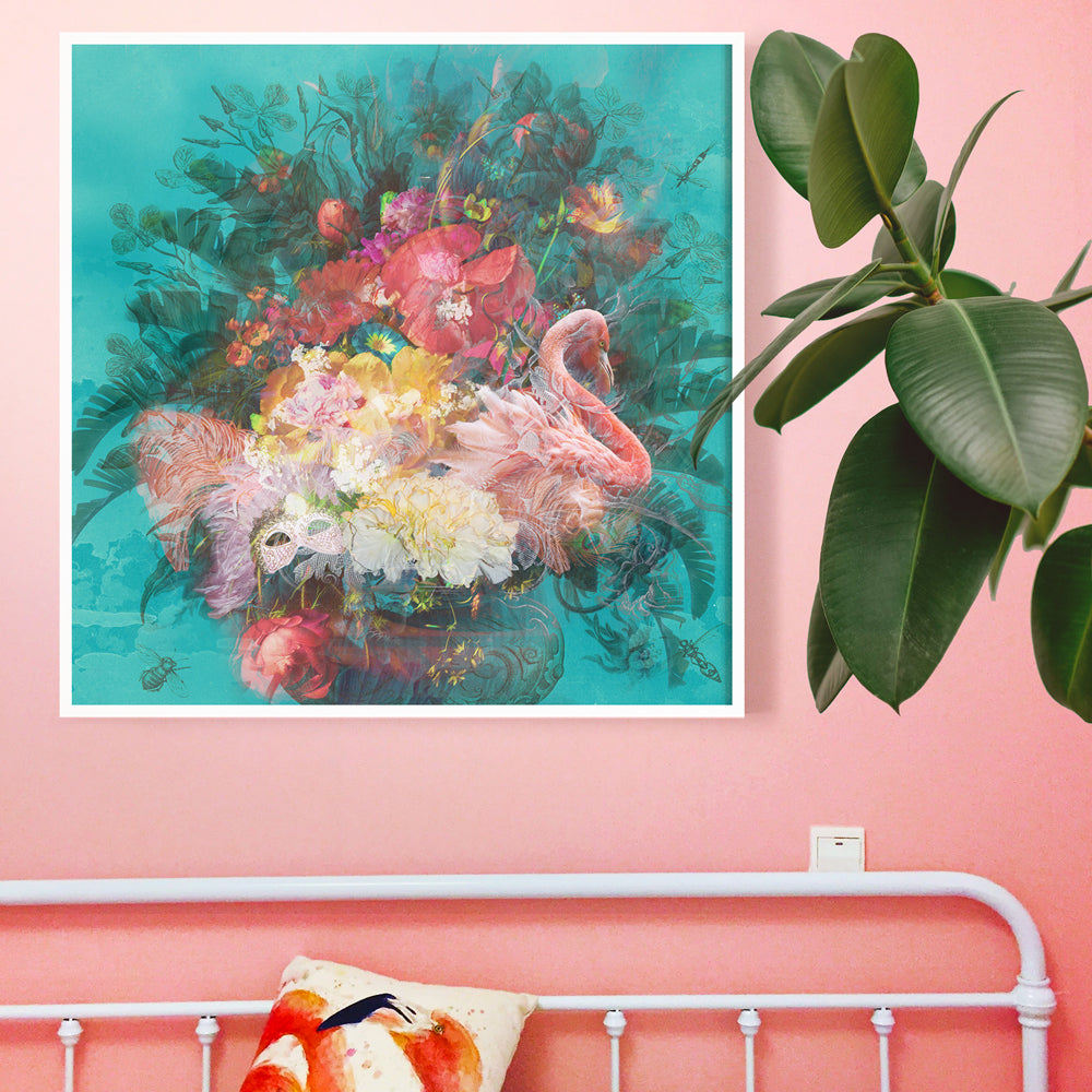 Flamingo Art Print by Back to the Wall.