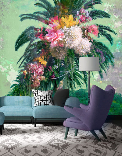 Floral Palm | Wall Mural by Back to the Wall