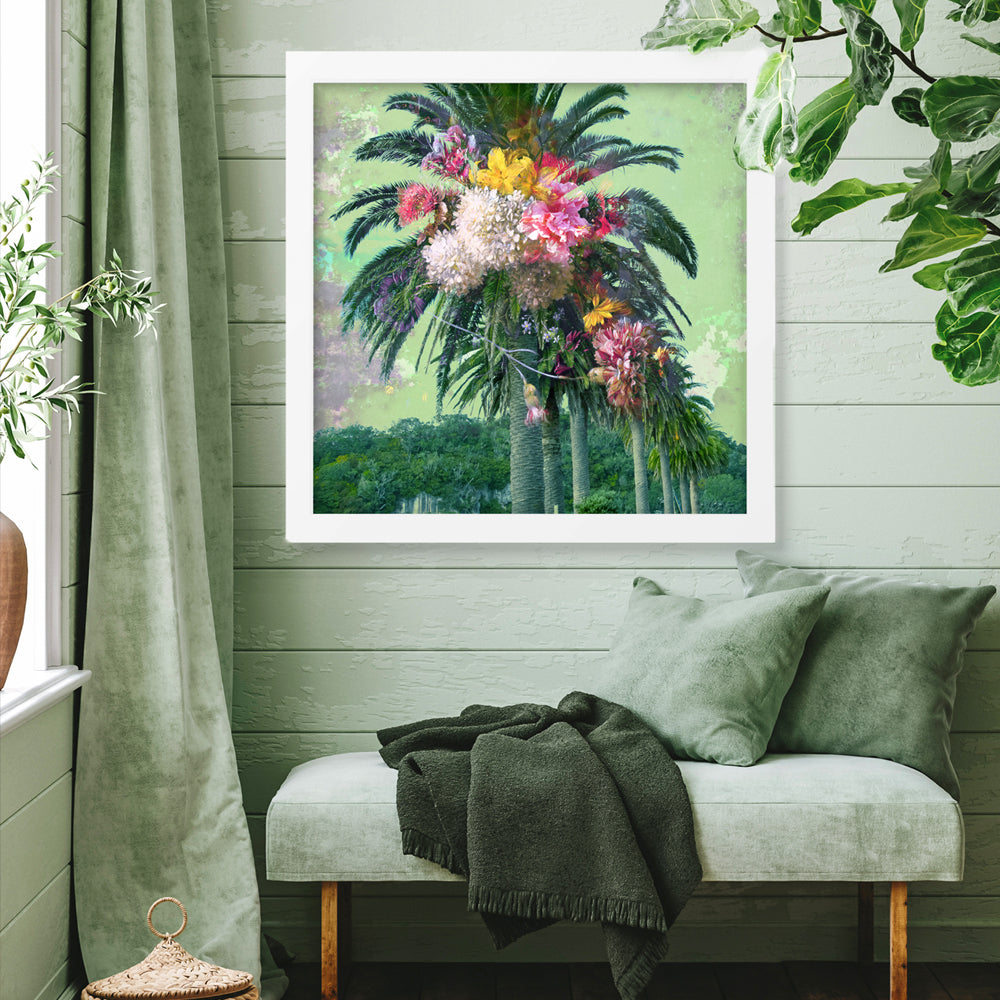 Floral Palm Art Print by Back to the Wall