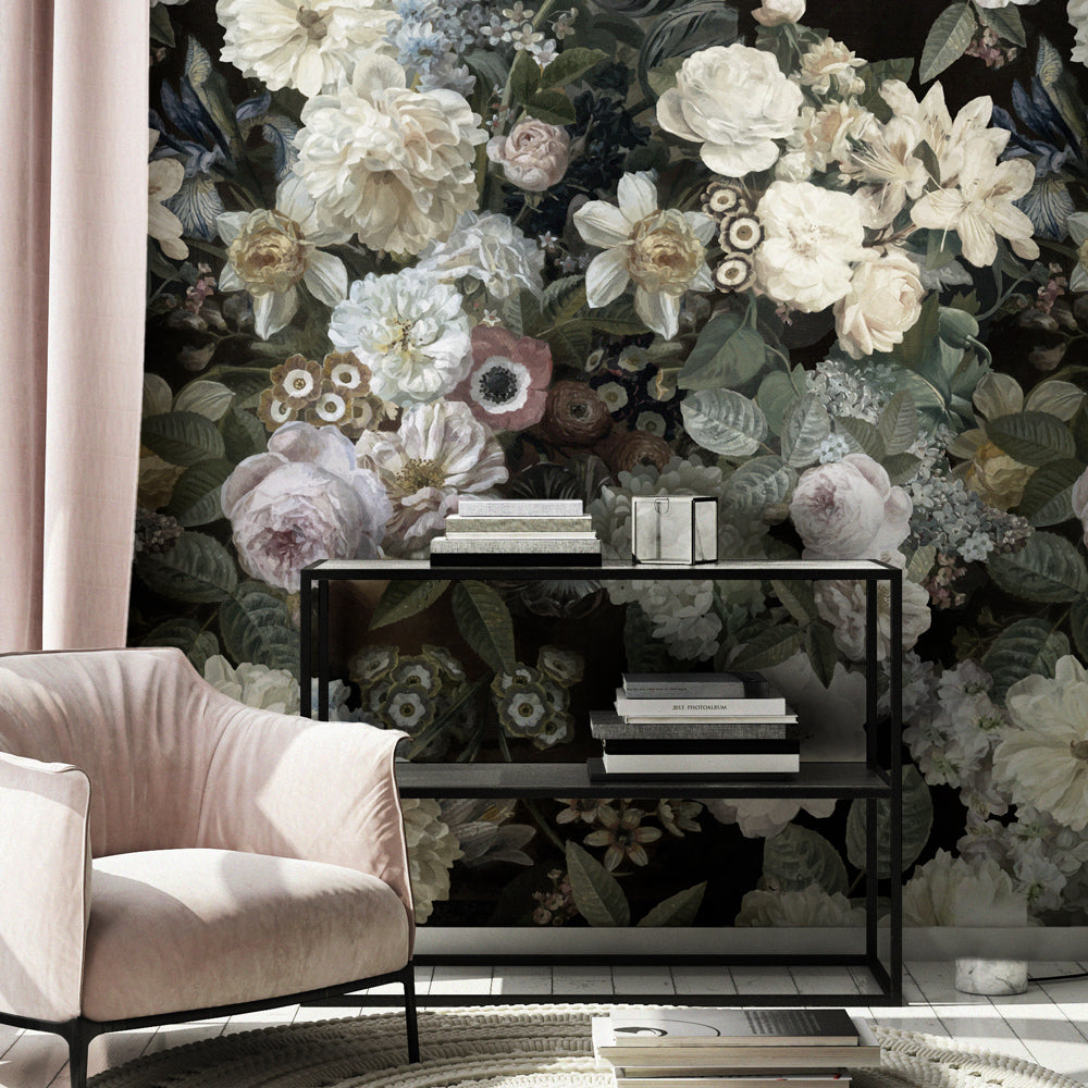Floz mural wallpaper for a living room by MM Linen for Back to the Wall