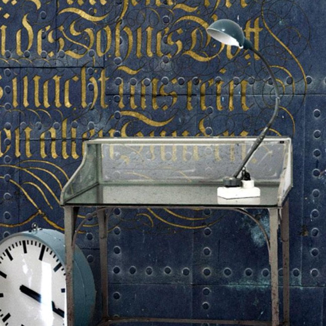 Metal Calligraphy Wall Mural by Back to the Wall
