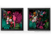 Midnight in the Garden Diptych Art Prints by Back to the Wall
