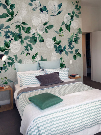 Rambling Rose Wall Mural by Back to the Wall