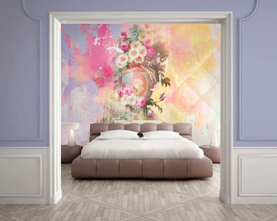 Sherbert Wall Mural by Back to the Wall