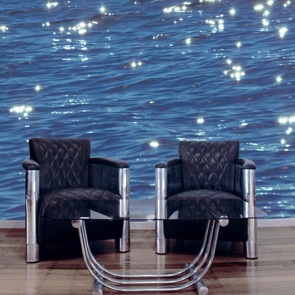 Shimmering Water Wall Mural by Back to the Wall