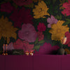 Sumi Floral Mural Wallpaper for a dining room by MM Linen for Back to the Wall
