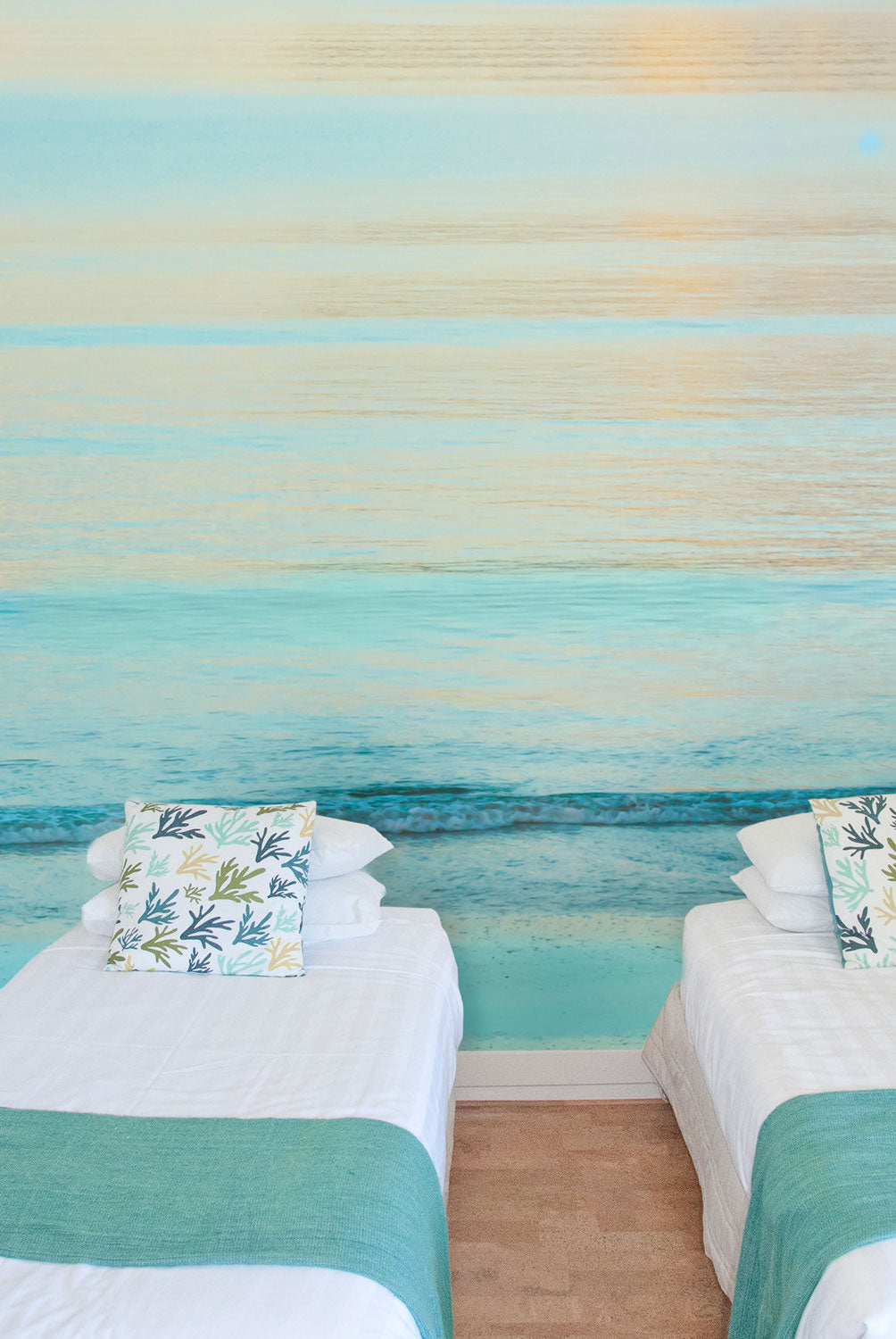 Sunset Shoreline | Surfing Sea Ocean Wall Mural by Back to the Wall