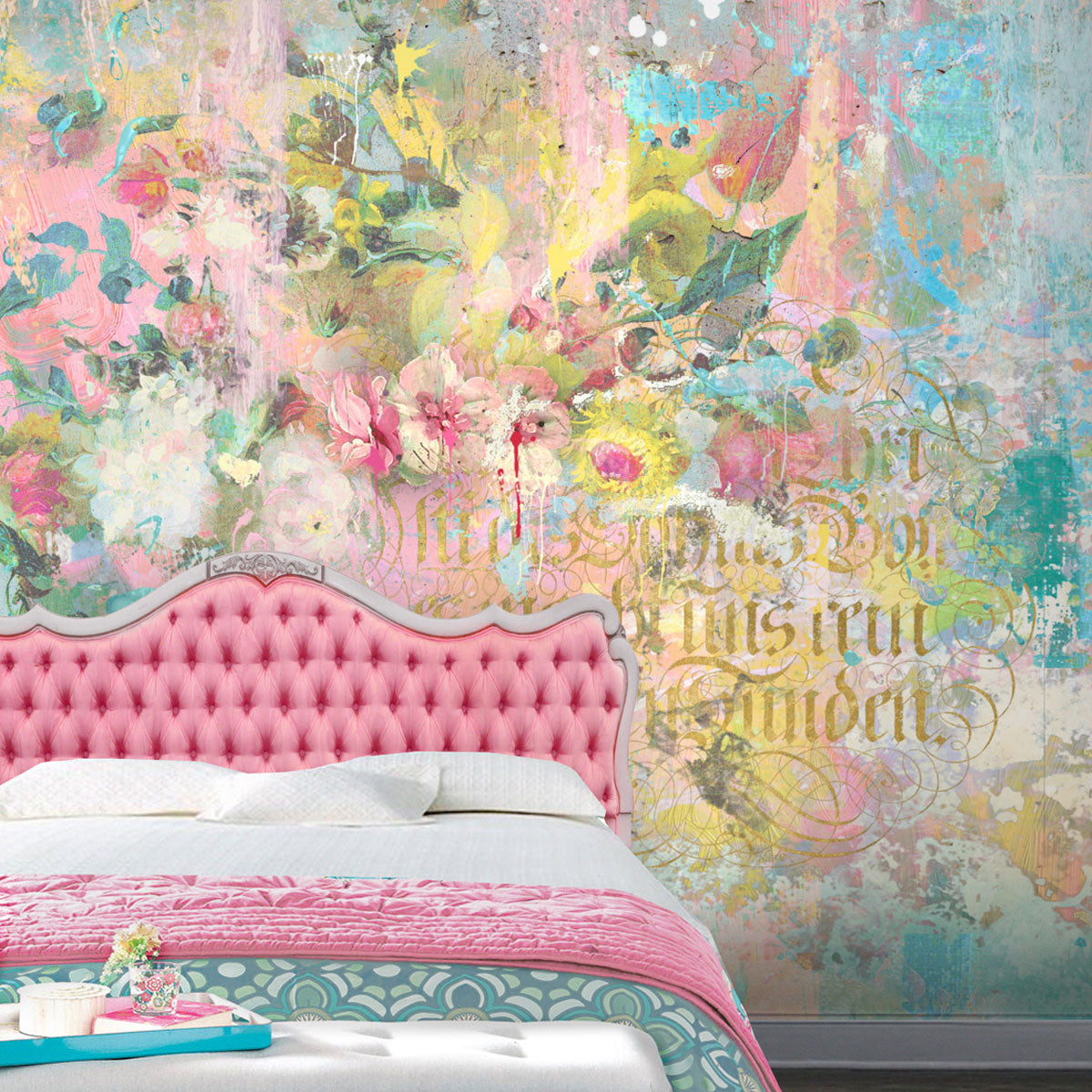 Paint & Gilt Wall Mural for a Teen Bedroom by Back to the Wall