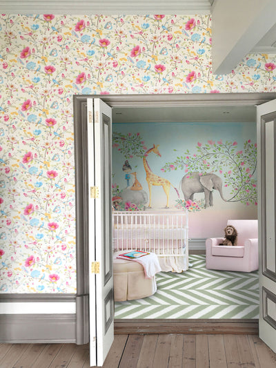 Whimsical Mural Wallpaper by Back to the Wall