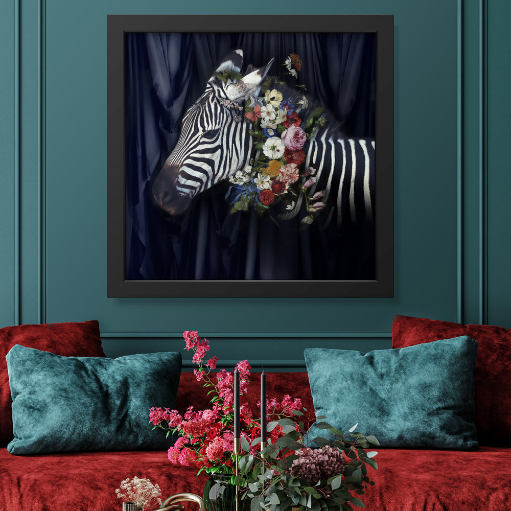 Zebra Crossing Art Print by Back to the Wall