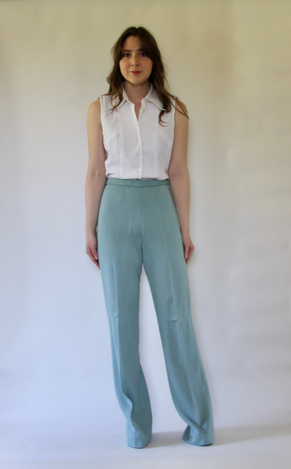 Vintage Duck Egg Blue Pants