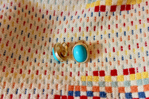 Vintage Turquoise Clip On Earrings