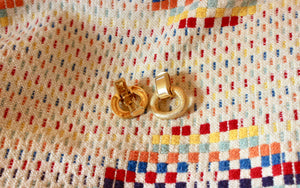 Vintage Gold Hoop Clip On Earrings