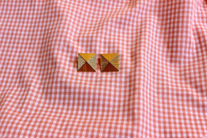 Gold Pyramids Earrings