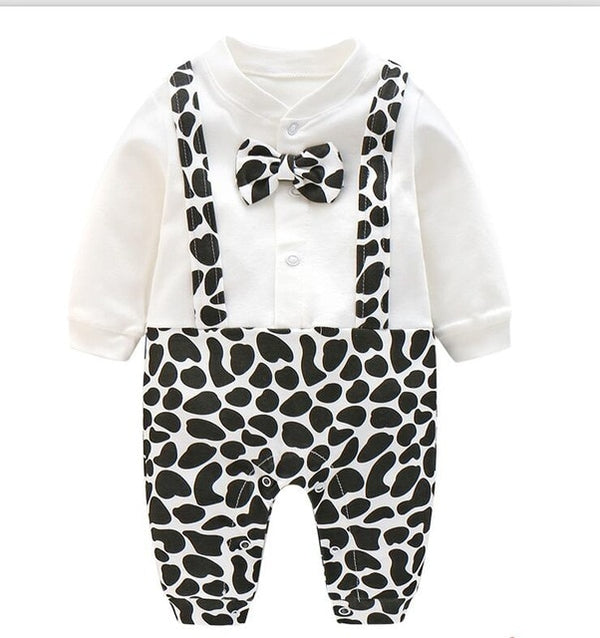 Gentleman Baby Romper with Bow Tie