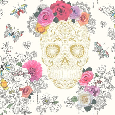 Rasch Sugar Skull Wallpaper 278026