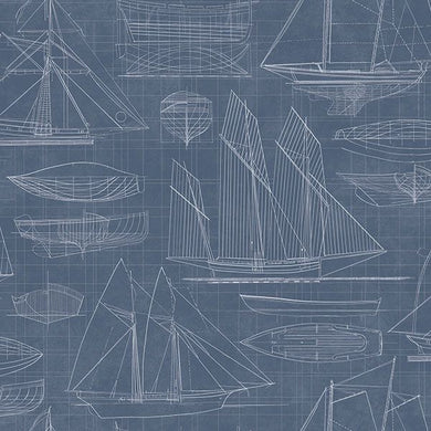 Deauville 2 Ship Sketch Wallpaper