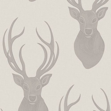 Stag Head Wallpaper Taupe 273700