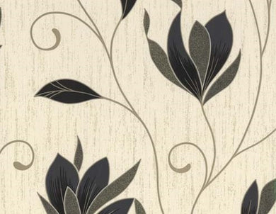 Fireside Synergy Floral Trail Wallpaper.