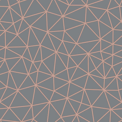 Rasch geometric Grey & rose gold wallpaper