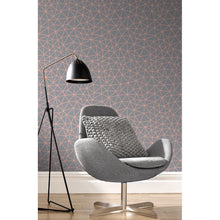 Load image into Gallery viewer, Rasch geometric Grey & rose gold wallpaper