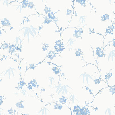 Watercolour Stem Flower Wallpaper
