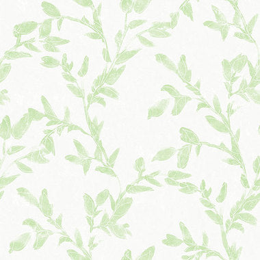 Watercolour Vine Leaf Wallpaper