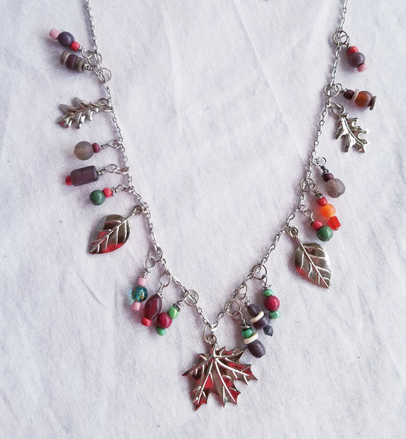 Necklace Falling Leaves