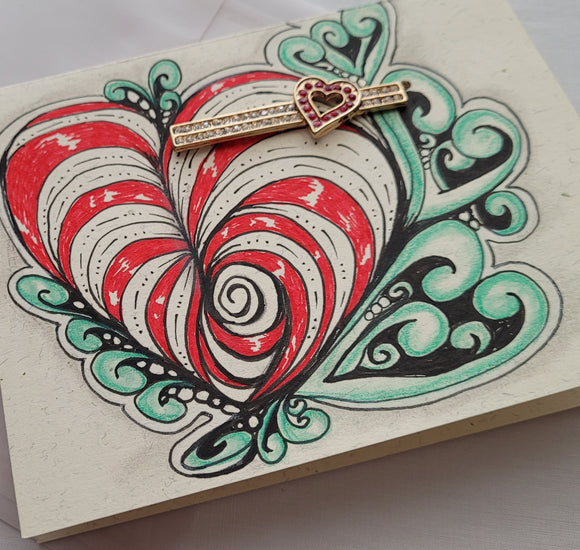 Card with Broach