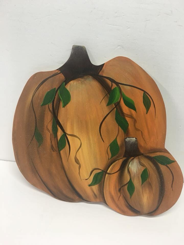 Pumpkin with 2 bodies
