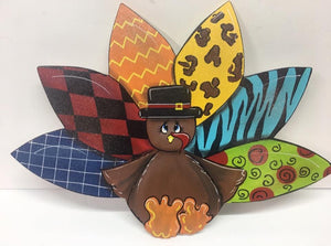 #907 Turkey multicolored feathers