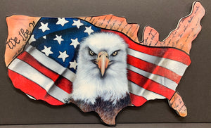 "PRINTED American eagle 14"" wide"