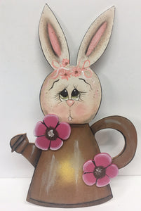 #310 Bunny in a watering can