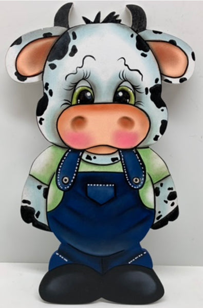 Cow with overall