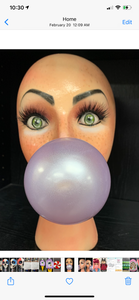 Mannequin head bubble gum