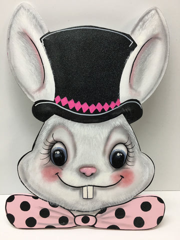 #303 Bunny head with hat