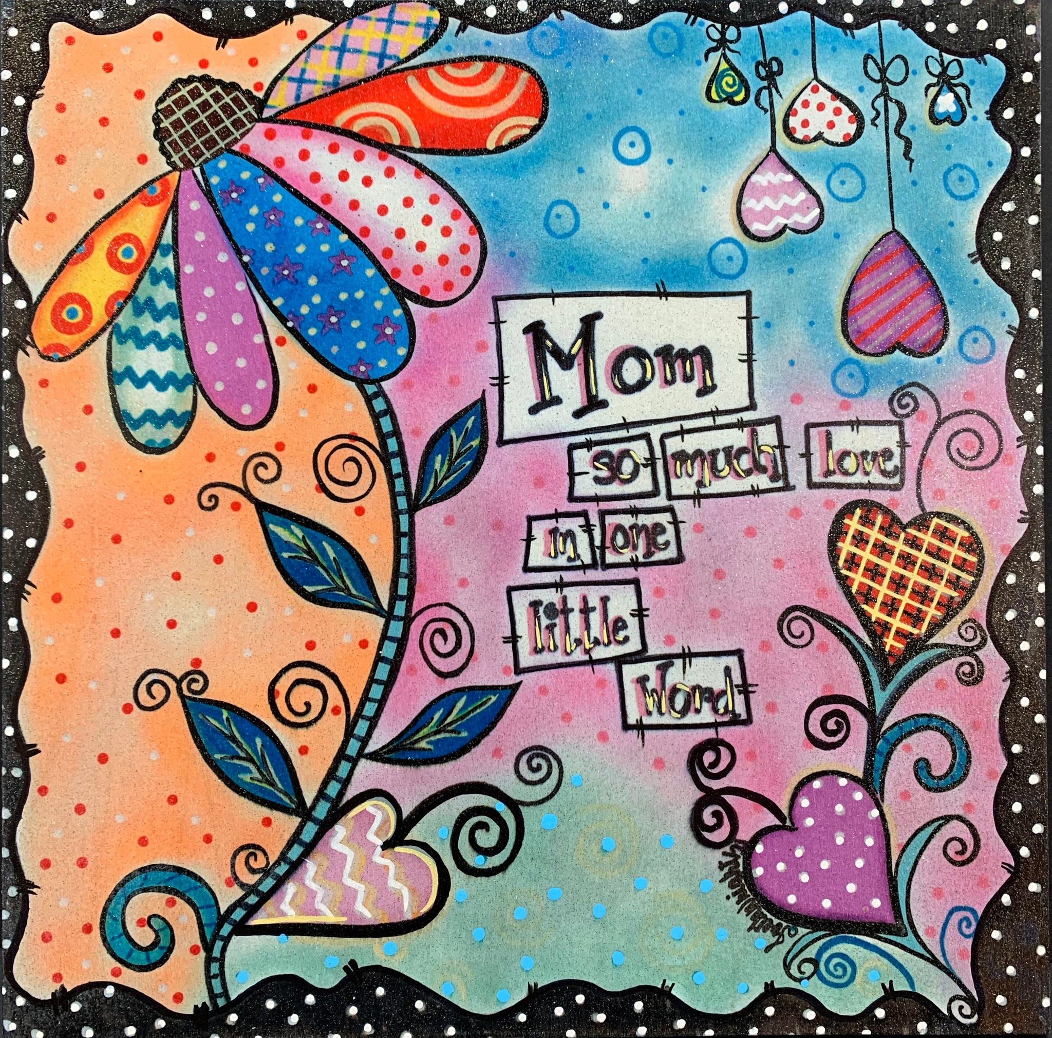 "PRINTED SIGN MOTHER'S DAY 10""x10"""