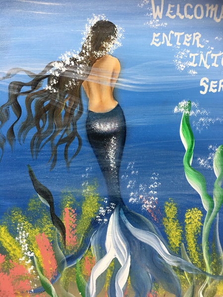 #604 Mermaid board 12x10""
