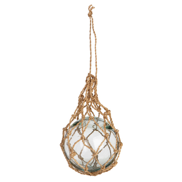Recycled Glass Buoys with Abaca Net - BGK 004 N