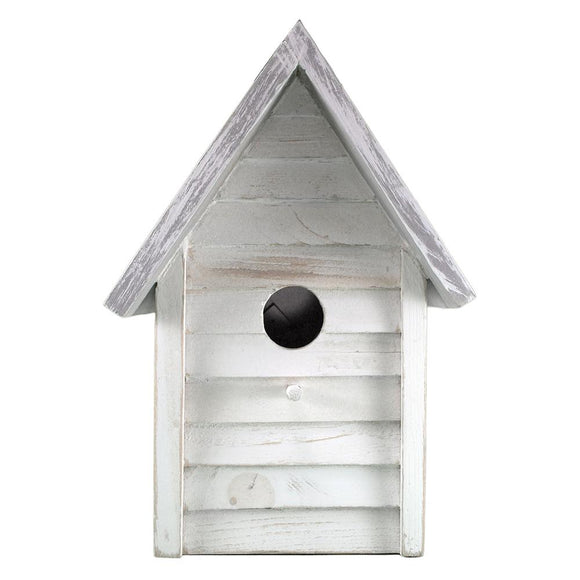 Beach Cottage Birdhouse (White) - BHK 203 W