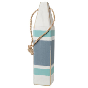 "15"" Buoy (White, Aqua, Nantucket Blue, Thin Stripe) - BK 180 08"