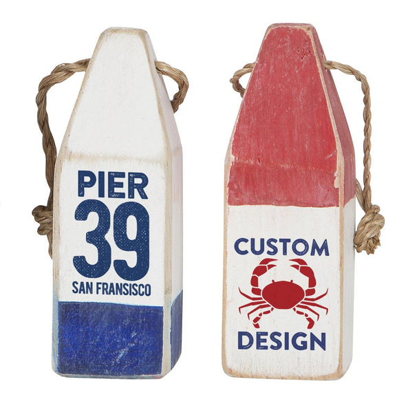 Personalized Wooden Buoys - Custom Made