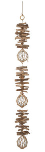 Driftwood Garland with Glass Buoys - DGK 050