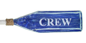 "Wood Paddle with Rope (4' 7"") - White/Blue with White ""CREW"" - OK 618 22"