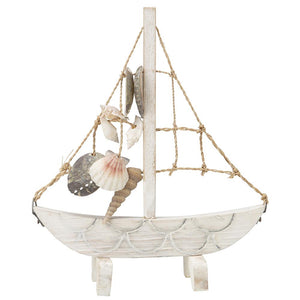 Sailboat with Abaca Rope & Seashells