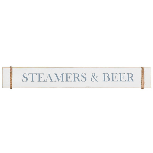 Wood Sign - Steamers & Beer (4