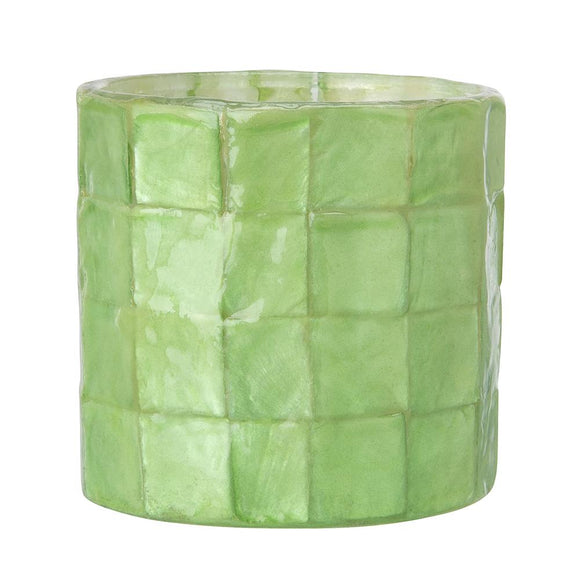 Capiz Tea Light Candle Holder (Aqua) - SK 341 A