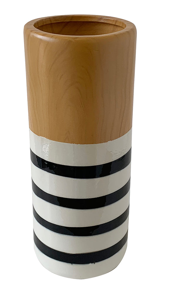 Stripe Ceramic Vase (3.9