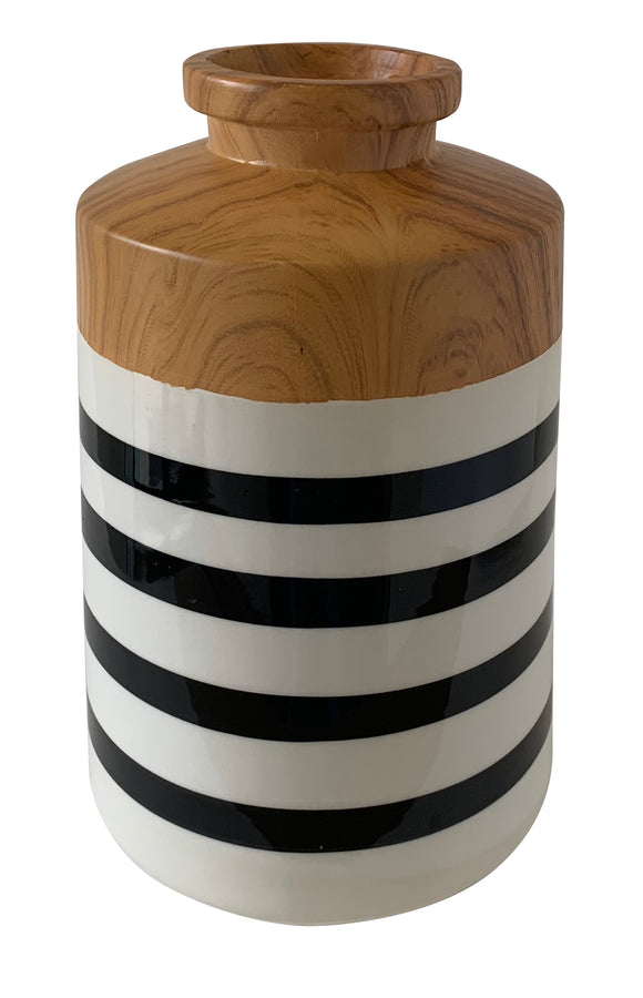 Stripe Ceramic Vase (5.7