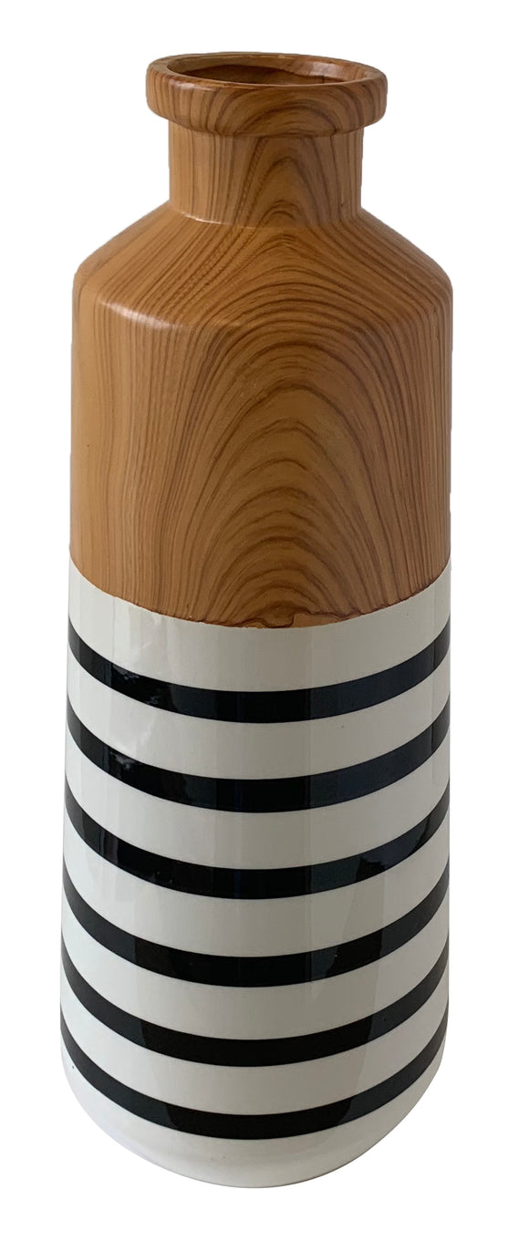 Stripe Ceramic Vase (5.9